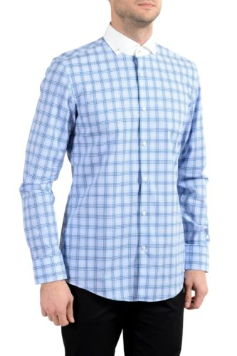 "Hugo Boss /""Jennis/"" Men/'s Slim Plaid Multi-Color Long Sleeve Dress Shirt"