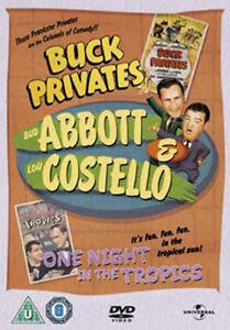 Abbott & Costello - Buck Privates / One Night IN The Tropics DVD Nuovo (824569