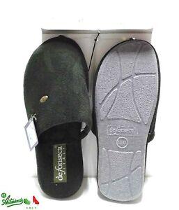 design di qualità sconto in vendita andare online Dettagli su DEFONSECA 45-46 ciabatte pantofole uomo NUMERI GRANDI invernali  Biliardo Verde
