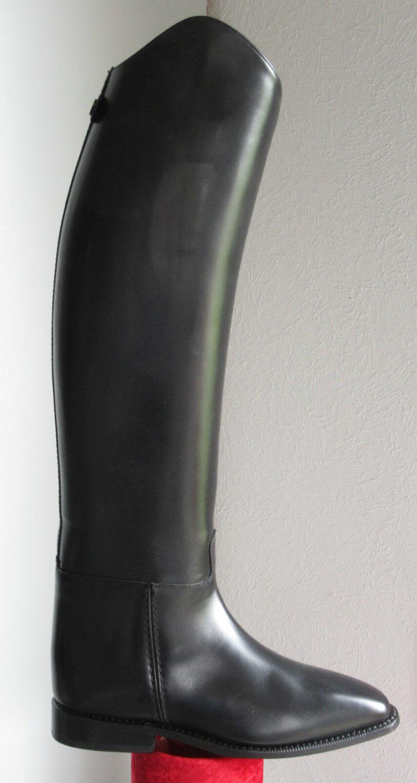 %%Leder Reitstiefel Pirouette Cavallo  Gr.7 Höhe 53 Weite 39 XXLW Fb. schwarz%%
