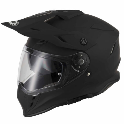 VCAN V331 DUAL SPORT ENDURO MX QUAD OFF-ROAD MOTORCYCLE HELMET MATT BLACK