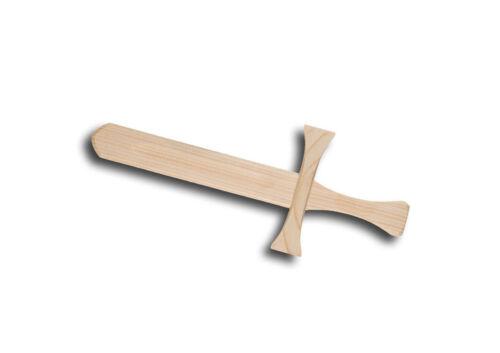 Croix Chevalier épée 30 cm long enfants épée Costume épée en Bois mardi gras dague