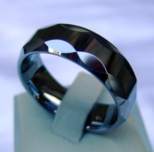 8 mm de ancho-encararán-Titan Hart 059 Wolfram//Tungsten Carbide ring