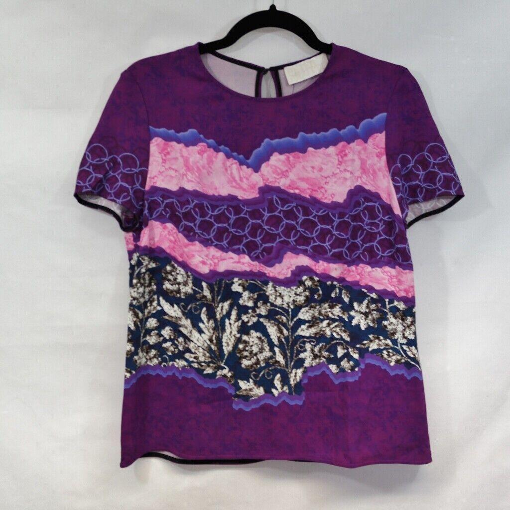Top de seda floral púrpura PETER  PILOTTO Talla 10  hasta 60% de descuento