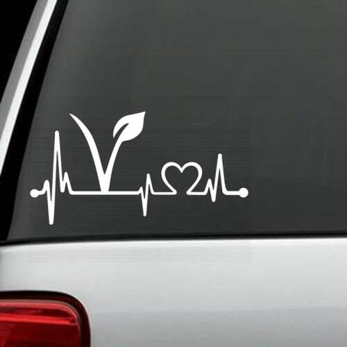 K1132 Vegano vegetariana latido Lifeline Decal Sticker
