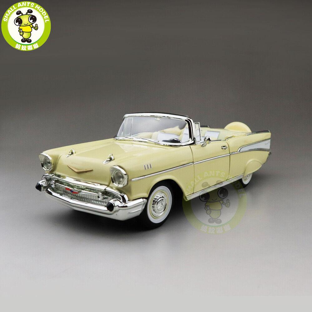 1 18 1957 Chevrolet BEL AIR Converdeible strada Signature Diecast modello auto giocattoli