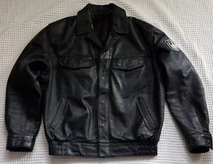 Details zu Original Zoll Lederjacke Lederblouson Motorradjacke Herrenjacke schwarz Biker