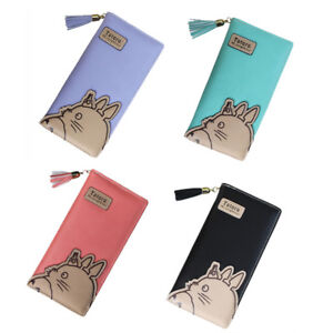Anime-Totoro-Zipper-Leather-Long-Purse-Ladies-Clutch-Bag-Wallet-Card-Holder