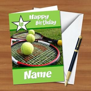 New design personalised birthday card bc210 tennis wimbledon image is loading new design personalised birthday card bc210 tennis wimbledon m4hsunfo Choice Image