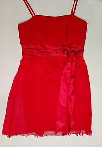b53577a98b54be Das Bild wird geladen Festliches-Damenkleid-Kleid-Hochzeit-Gr-44-rot-Neu-