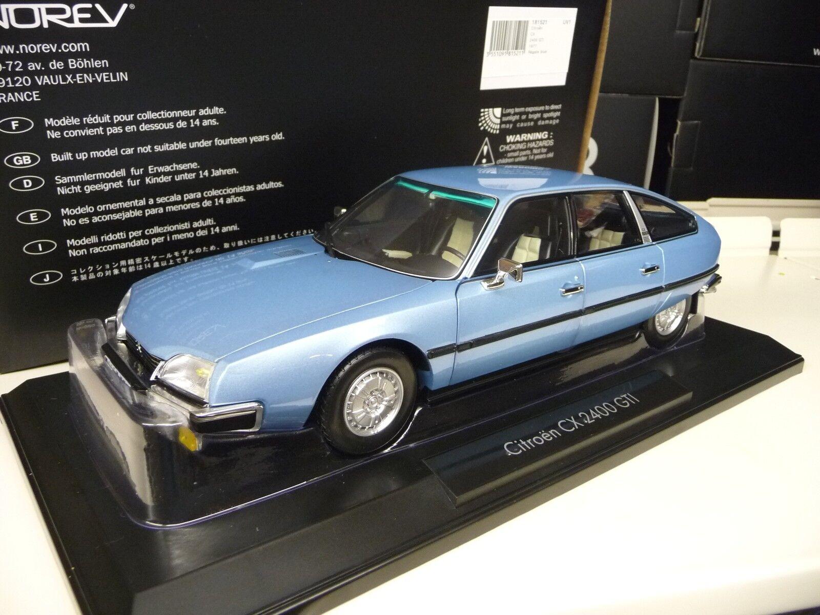 Citroen cx 2400 gti 1,18 norev 1977 blau blau metallic neue neue