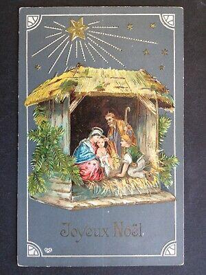 Afie Carte Joyeux No/ël Merry Christmas T/ête P/ère No/ël Petit Papa No/ël Chapeau Bonnet Pompon Moustache Barbe Flocons Neige Montagne Rouge Brillant
