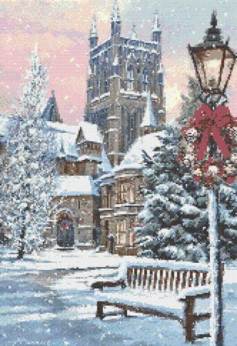 CHURCH IN WINTER - CROSS STITCH CHART