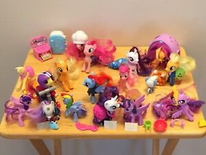 Lot Of 17 My Little Pony Figures With Accessories Camping Mermaid Chef Scooter Ebay