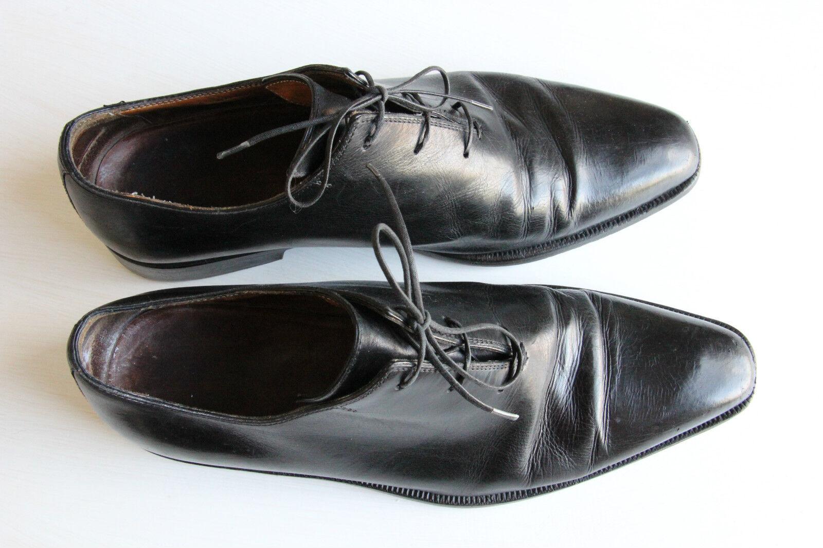 ICONIC Sutor Mantellassi negro Cordones De Cuero Zapatos  Hecho a Mano 6.5 UE 40 -50%