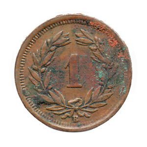 KM# 3.2 - Schon# 15 - 1 Rappen - Helvetia - Switzerland 1908B (Fair)