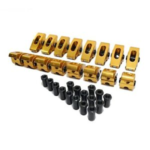 289-302-351W-1-6-Ratio-3-8-034-Stud-Full-Roller-Aluminum-Rocker-Arms-w-Poly-Locks