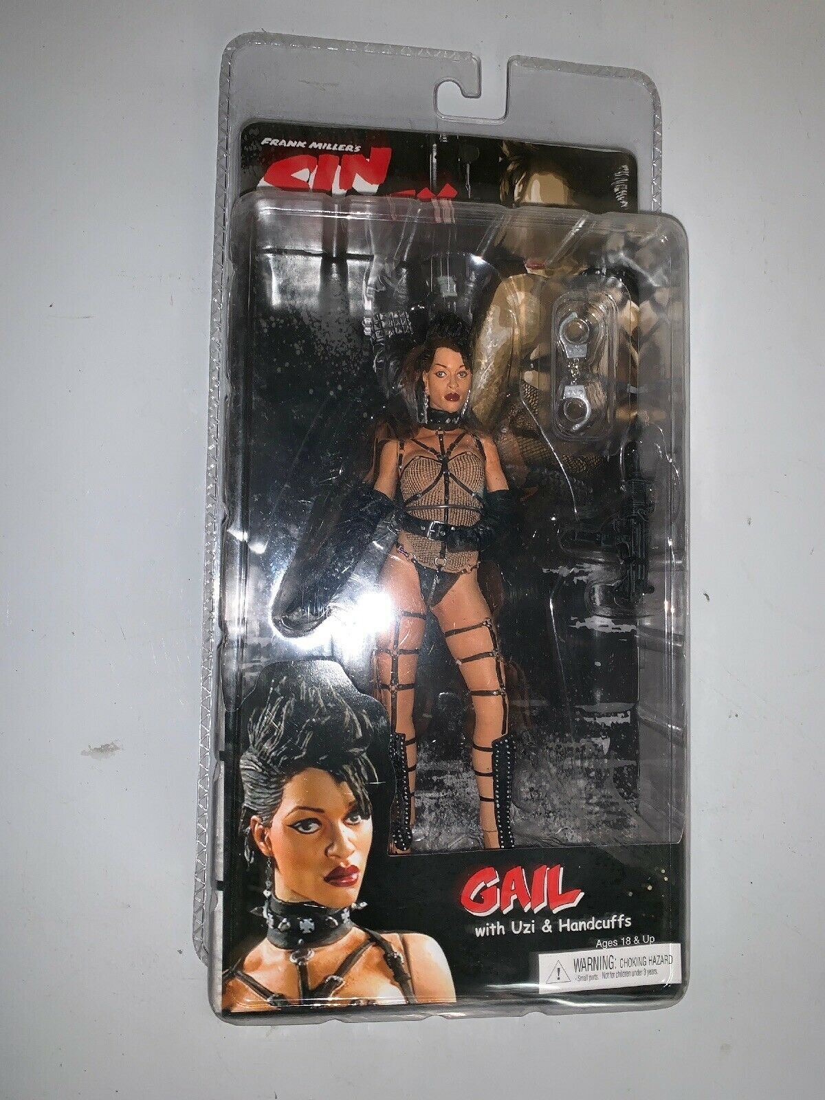 """SIN CITY Movie GAIL 7"""" ACTION FIGURE SERIES 1 Coloree Variant NECA FRANK MILLER"""