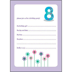 Image Is Loading 10 Childrens Birthday Party Invitations 8 Years Old