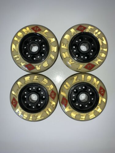 Labeda Fuzion X Soft 80mm Inline Skate Wheels Micro Bearing Clear 4-pack