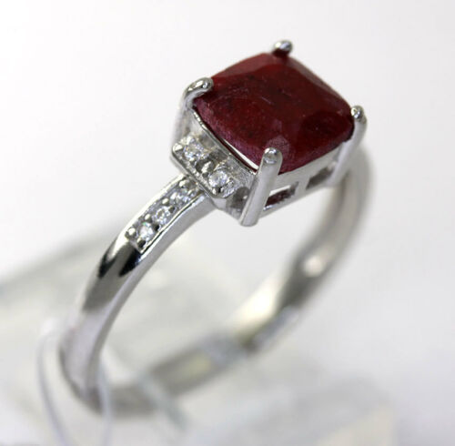 Dyed Ruby and Cubic Ring