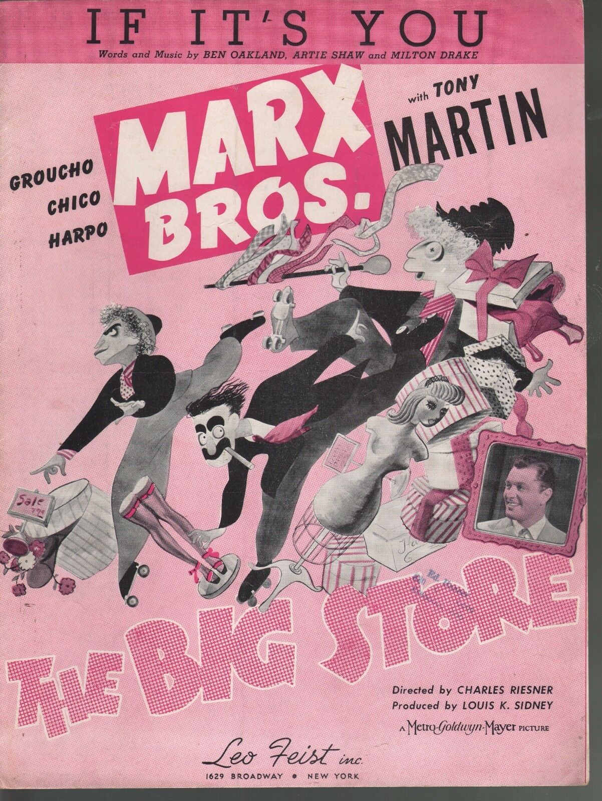 If It's You 1941 Marx Brothers The Big Store Sheet Music