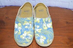 Dansko-Womens-Victoria-Tahiti-Floral-Canvas-Clog-Nursing-Shoe-Sz-40-9-5-10