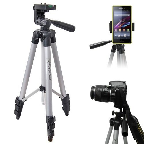 Universal Professional Telescopic Camera Tripod Stand Holder For Cell Phone +Bag
