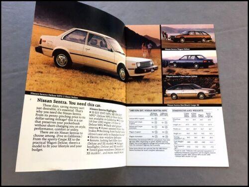 1983 Nissan Datsun 16-page Sales Brochure 200-SX Truck Stanza Pulsar 280-ZX