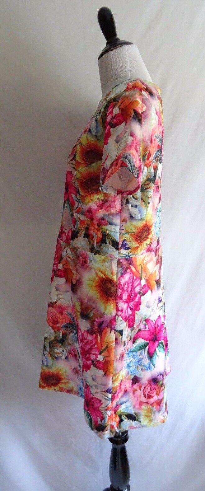 NWT Alexia Admore L Romantic Flower Print Neoprene Scuba Scuba Scuba Fit & Flare Party Dress a5af2d