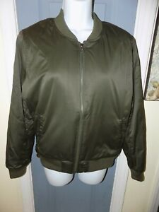 3c408b84d American Eagle AE Olive Green Bomber Jacket Coat Size M Women's NWOT ...