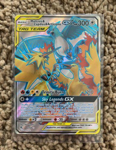 Hidden Fates Moltres Zapdos /& Articuno Full Art 66//68 Pack fresco! Pokémon Tcg