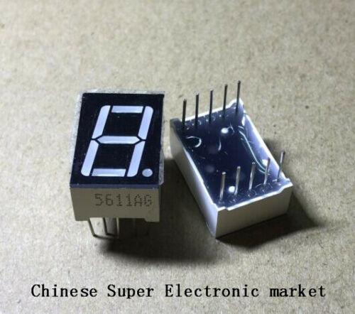 "20 PCS LD-5161AG 1 Digit 0.56/"" GREEN 7 SEGMENT LED DISPLAY COMMON CATHODE"