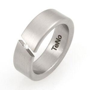 TeNo-YuNis-Ring-18-56-Brillantring-Edelstahlring-Spannring-mit-Brillant-0-04ct