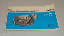 Teilekatalog Deutz Diesel Motor F6L 911 912 Stand 10/1970