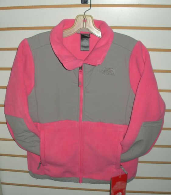 fc4c319445 North Face Denali Kids Aqgg-xr2 Pink Silver Girls Fleece Jacket ...