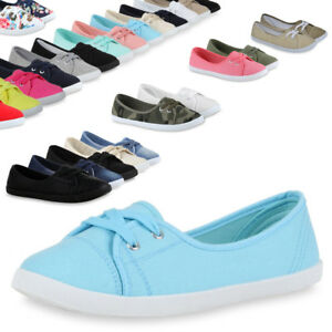 Das Bild wird geladen Damen-Ballerinas-Sportliche-Stoffschuhe-Slipper-71109- Schuhe-Trendy- b0c40d8a67