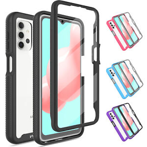 For Samsung Galaxy A32 5G Clear Case Hybrid Cover With Built-in Screen Protector