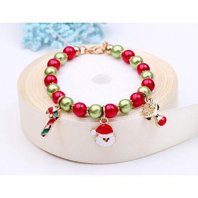 Charme Noël bracelet Noël père Noël renne arbre collier chaîne bracelet