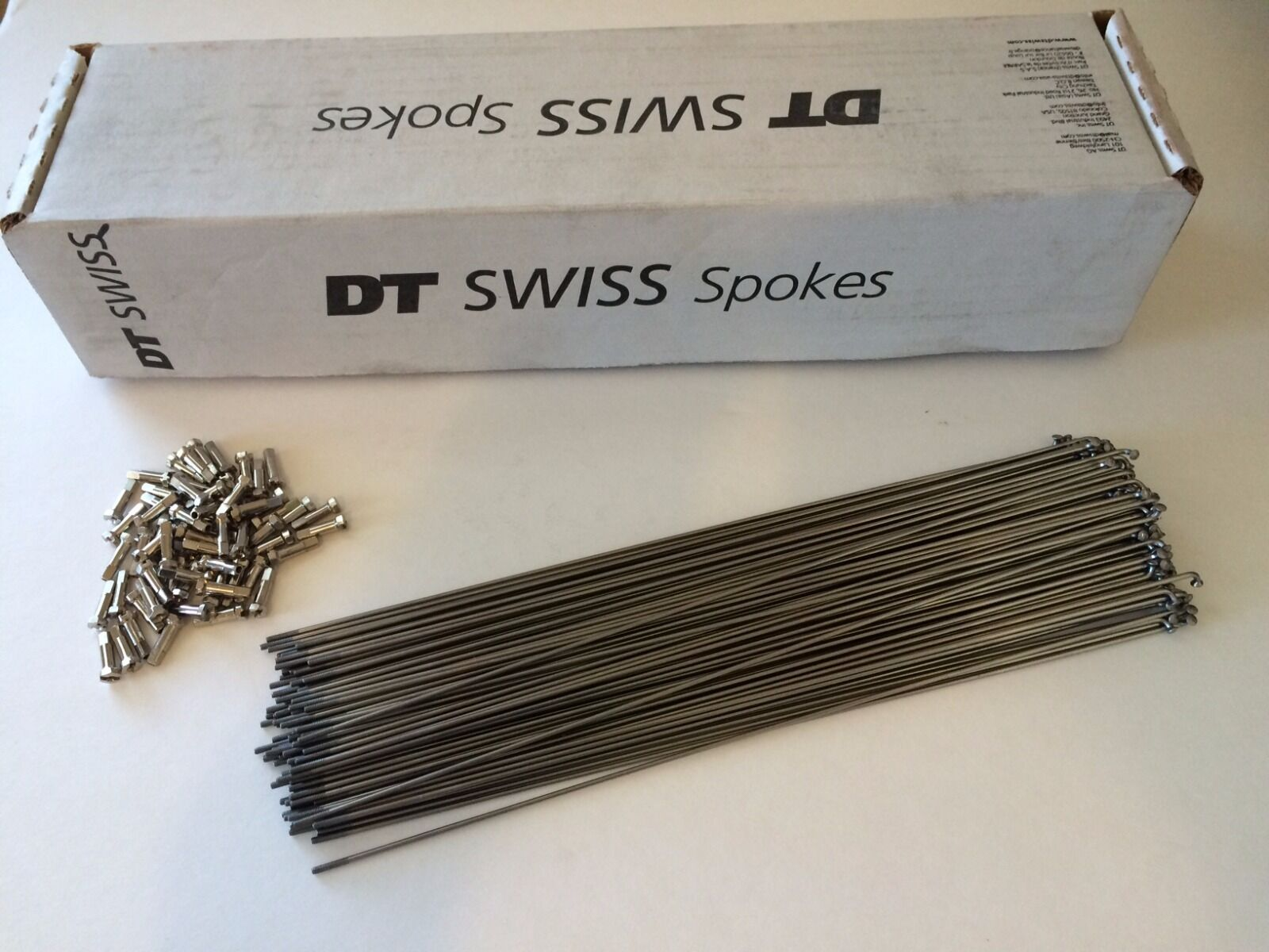 DT Swiss Competition 1.8 1.6mm 258mm Stainless Spoke (500 box) W O Nipples