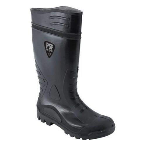 PSF D110SM Dri Force Plus Black PVC Work Safety Wellington Boots Steel Toe Cap