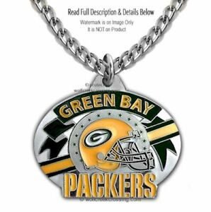 c3bb8aca8 GREEN BAY PACKERS NECKLACE - ONE FOR THE TEAM NFL FOOTBALL - FREE ...