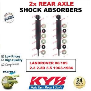 2x KYB REAR AXLE SHOCK ABSORBERS SET for LANDROVER 88/109 2.3 2.3D 3.5 1963-1986