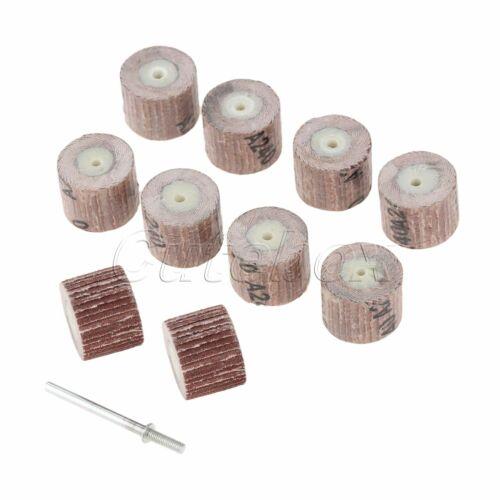 10Pcs Sanding Flap Abrasive Cloth Wheels Discs 80 120 180 240 320 400 600 Grit