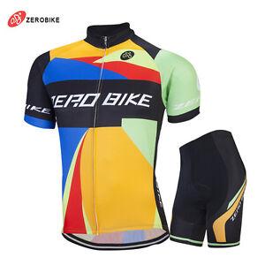 Pro Mens Bike Clothing Short Sleeve Cycling Suit Cycling Jersey Shorts Set M-XXL