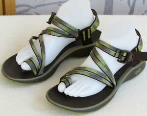 9-Chaco-Women-Multi-Color-Toe-Loop-Ankle-Strap-Flat-Comfort-Sandal