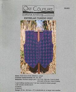 Basic V-Neck Vest Men Women Knitting Instruction Pattern Penny Straker #741 NEW