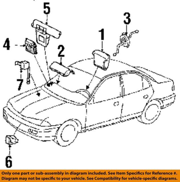 Ford Oem Airbag Air Bag Srs Diagnostic Module F7pz14b056ab