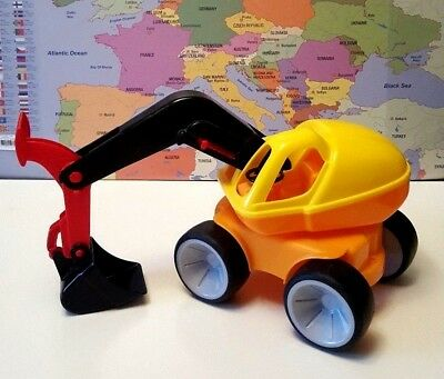 Baby Amiable Gowi 560-41 Excavator Digger Bright Plastic German Car Vehicle Toy