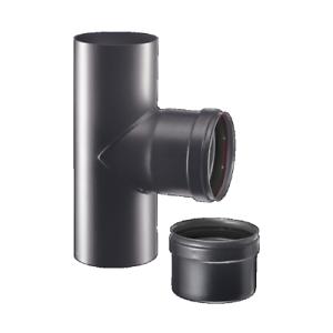 Tubi tubo fumi stufa pellet 80 t tee m f m acciaio 1 2mm - Tubi x stufa a pellet ...
